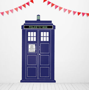 British Policebox Wall Sticker - bedroom