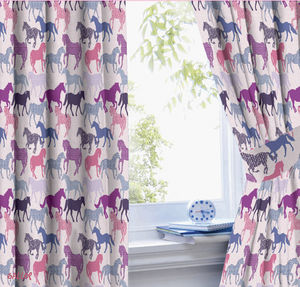 Gallop Horse Curtains