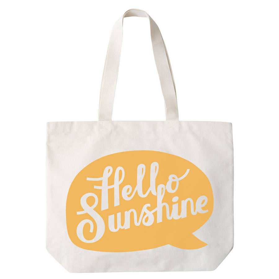 hello sunshine' canvas beach bag by alphabet bags ...