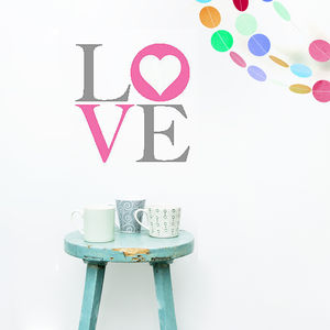 Love Vinyl Wall Sticker - home decorating