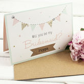 Will You Be My Bridesmaid Card Mint Bunting - styling your day