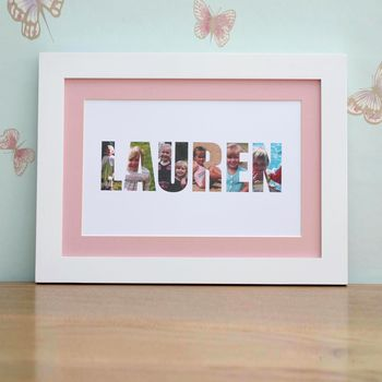 Personalised 'Girls name' Photograph Print