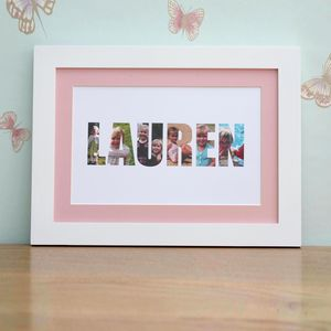 Personalised 'Girl's Name' Photograph Print - for over 5's