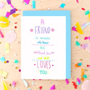 Best Friend Quote Greeting Card - cards for friends