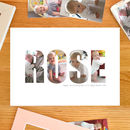 Personalised 'Girl's name' Photograph Print