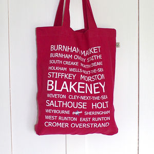 North Norfolk Destinations Cotton Shopper