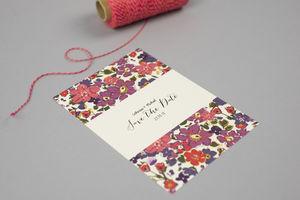 Scattered Floral Wedding Invite
