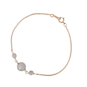 Lily Rose Quartz And Rose Gold Bracelet - wedding jewellery