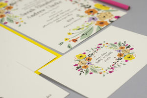 Wild Flowers Wedding Invite Set - wedding stationery
