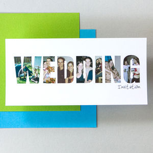 Personalised 'Wedding' Photograph Invitations