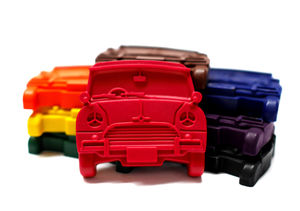 Set Of Eight Retro Car Crayons