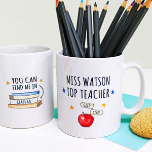 Personalised Top Teacher Gift Mug - gifts for teachers