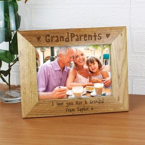 Personalised Grandparents Wooden Frame