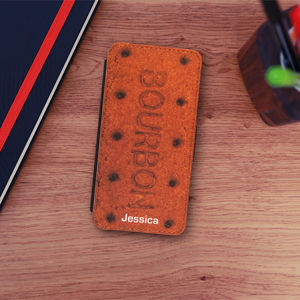 Bourbon Biscuit iPhone Flip Case And Card Holders - phone covers & cases