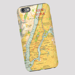 New York Map Phone Case - for travel-lovers