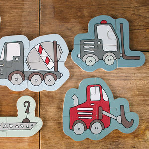 Trucks Puzzle Set - traditional toys & games