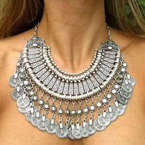 Bohemian Vintage Coin Necklace - necklaces & pendants
