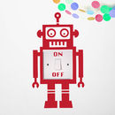 Light Switch Robot Vinyl Wall Sticker