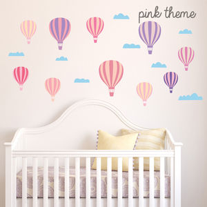 Hot Air Balloon Wall Stickers - children's room accessories