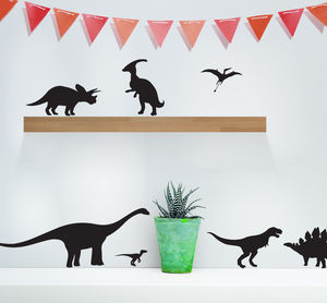Pack Of Dinosaurs Vinyl Wall Stickers - home accessories
