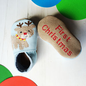 Personalised First Christmas Character Baby Shoes - new in christmas