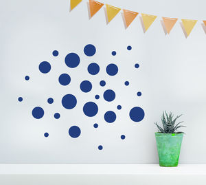 Child's Spotty Wall Sticker Set