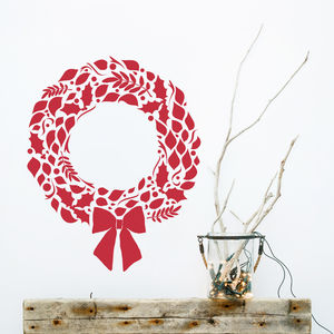 Christmas Wreath Wall Sticker - wreaths