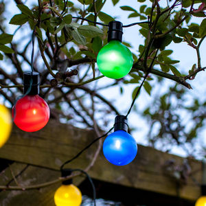 Multi Coloured Solar Party Lights - lights & lanterns