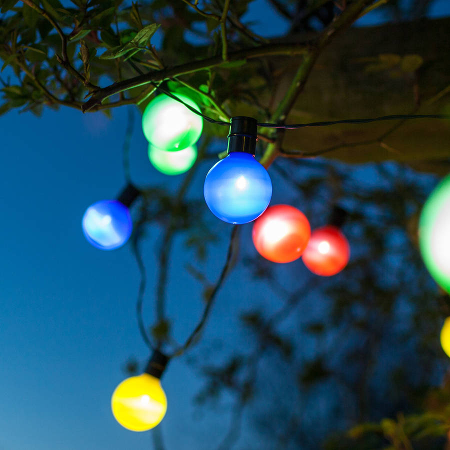 Multi Coloured Solar Party Lights By Lights4fun