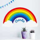 'Personalised Rainbow' Wall Sticker
