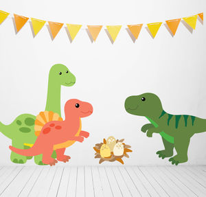 Children's Dinosaur Wall Sticker Set - wall stickers