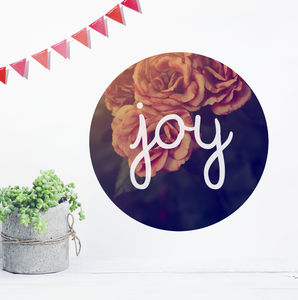 Vintage 'Joy' Wall Sticker Circle - room decorations