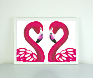 Penelope And Ralph Flamingo Print - shop by price