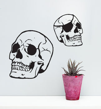 Skull Vinyl Wall Sticker