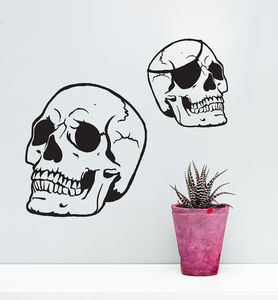 Skull Vinyl Wall Sticker - decorative accessories
