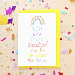 Brightest Rainbow Greeting Card - valentine's cards