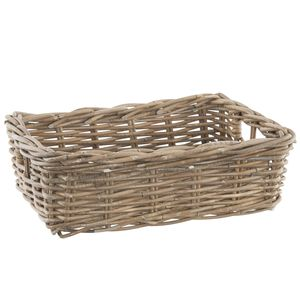 Grey Wash Willow Rectangle Basket