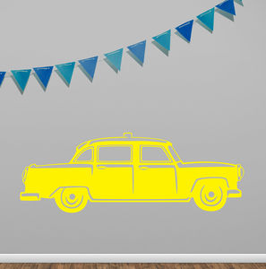 New York City Taxi Vinyl Wall Sticker - decorative accessories