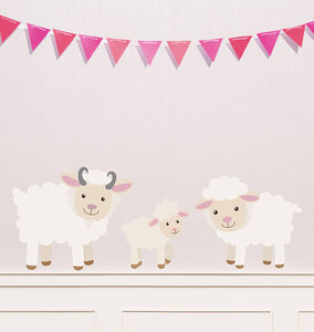 Children's Sheep Wall Sticker Set