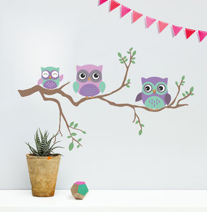 Children's Wall Sticker Owl - baby & child sale