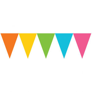 Colourful D.I.Y Party Paper Bunting - hen party styling