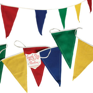 Colourful Sports Day Fabric Bunting - bunting & garlands