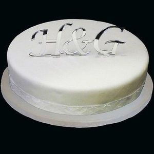 Personalised Initials Wedding Cake Topper - cake decorations & toppers