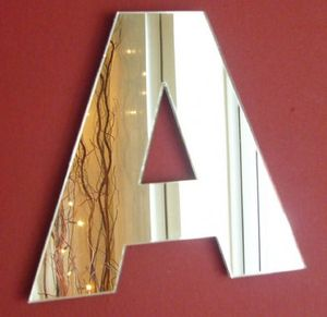 Personalised Letter Wall Mirrors - bedroom