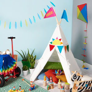 Childrens Rainbow Play Teepee - blow the budget