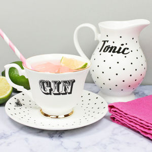 'Gin And Tonic' Tea Set - gifts for friends