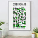 Oxford Quads Hand Illustrated Print