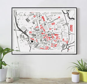 Oxford Wordmap Graphic Print - posters & prints