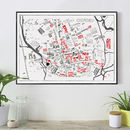 Oxford Wordmap Graphic Print