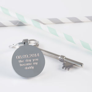 Personalised Day You Became My Daddy Keyring - gifts for him